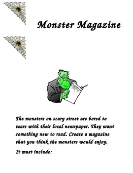 Monster Magazine: A writing project