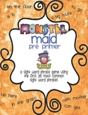 Monster Maid Pre Primer Sight Word Phrase Game with data c