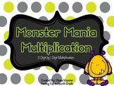Monster Mania 2 Digit by 1 Digit Multiplication- Task Cards!