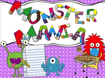 MATH AND LITERACY ACTIVITIES - Monster Theme