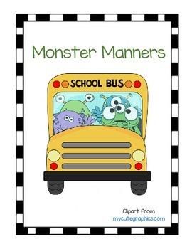 Monster Manners File Folder Game