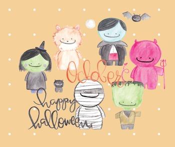 Monster Mash Halloween Clipart--Frankenstein, Witch, Vampi