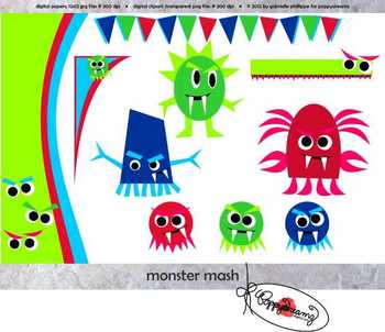 Monster Mash Clipart by Poppydreamz