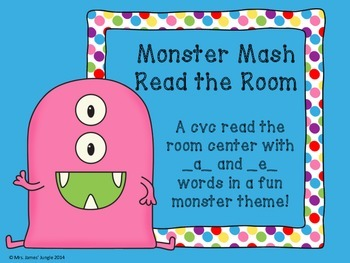 Monster Mash Read the Room Short a and Short e