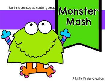 Monster Mash Up letter and sound center game