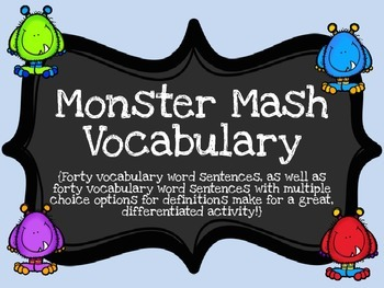 Monster Mash Vocabulary