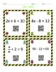 Monster Match Two-Step Equations QR Codes
