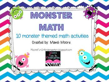 Monster Math {10 Monster Themed Math Activities}