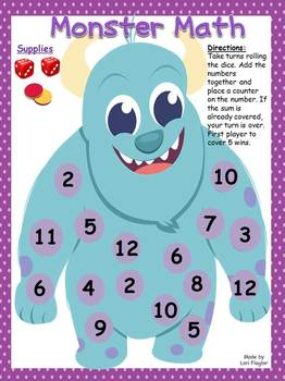 Monster Math Addition Game