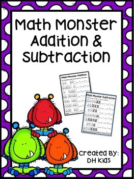 Monster Math - Addition and Subtraction