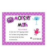 Monster Math Bash- Common Core Activities