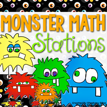 """""""Monster Math"""" Common Core Math Stations"""