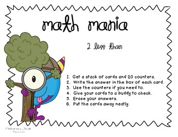 Monster Math Mania: Two Less Than
