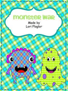 Monster Math War- Finding Equal Amounts