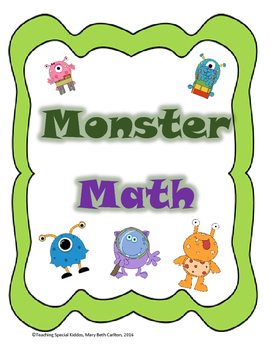 Monster Math Adapted Book/ File Folder Games (Counting, So