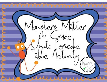 Monster Matter Unit: Periodic Table Element Activity