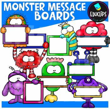 Monster Messages Clip Art Bundle