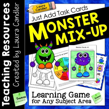 Monster Mix-up Game for Task Cards