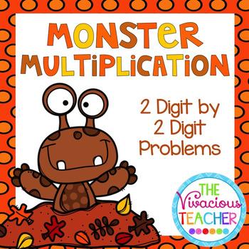 Monster Multiplication 2 Digit by 2 Digit Problems Task Ca