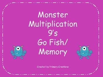 Monster Multiplication 9's Go Fish/ Memory