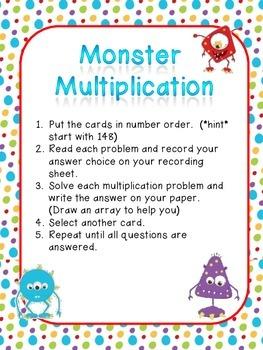 Monster Multiplication Arrays Center