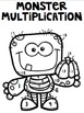 Monster Multiplication Color By Answer - Multiplying by 1