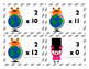 Monsters Multiplication Flash Cards for 0 to 12