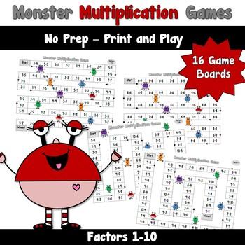 Monster Multiplication Games