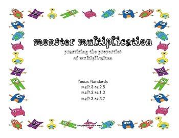 Monster Multiplication Task Cards