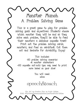 Monster Munch Problem Solving