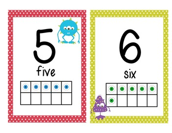 Monster Number Line to 1-20