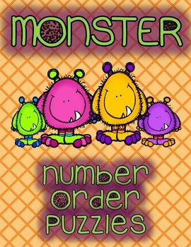 Monster Number Order Puzzles