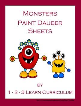 Monster Paint Dauber Sheets