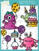 Monster Party Clip Art
