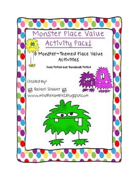 Monster Place Value Activity Pack
