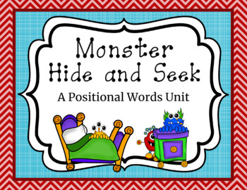 Monster Positional Words PowerPoint and Center Activities