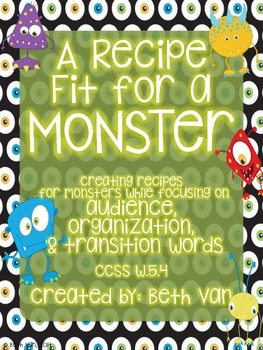 Monster Recipes! Focusing on Organization, Audience, & Tra