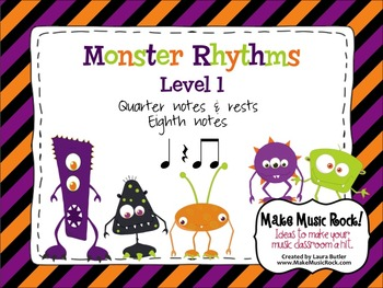 Monster Rhythms - Level 1 Practice and Game Bundle