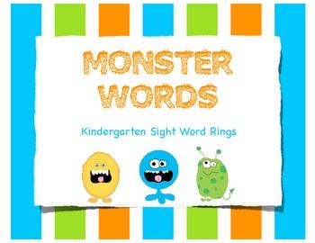 Monster Sight Word Rings