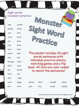 Monster Sight Words!