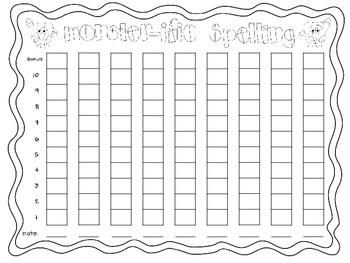 Monster Spelling Data Sheet