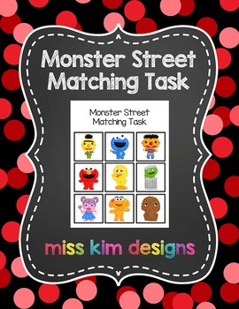Monster Street Matching Folder Game for students with Autism