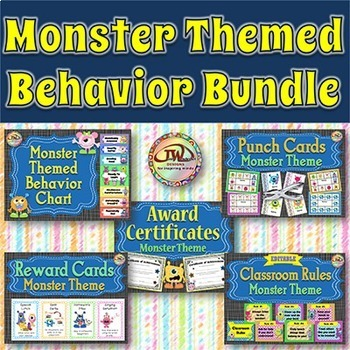 Classroom Themes - Monsters - Behavior / Classroom Managem
