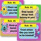 Monster Theme - Classroom Rules - Posters