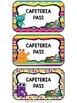 Monster Theme Hall Passes