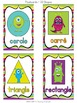 Monster Theme Shape Posters FRENCH VERSION