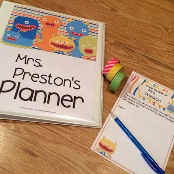 Monster Theme Teacher Lesson Planner