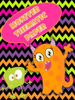 Monster Theme Writing Paper
