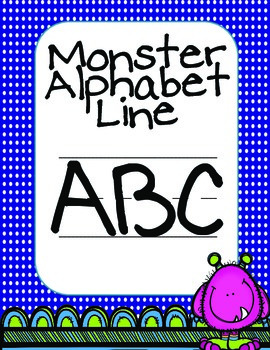 Monster Themed Alphabet