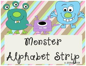 Monster-Themed Alphabet Cards
